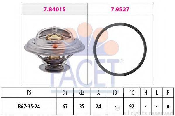 FACET 78401 Термостат, охлаждающая жидкость