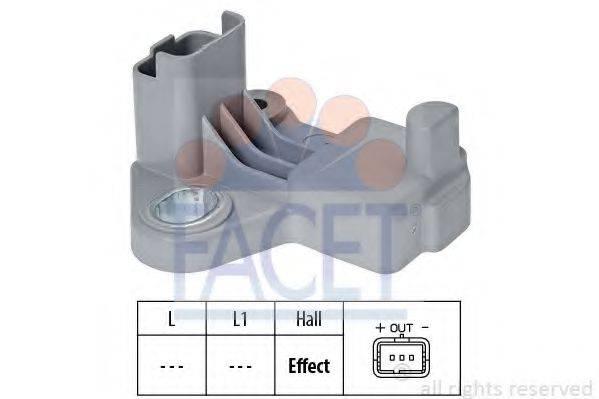 FACET 90602 Датчик импульсов; Датчик импульсов, маховик; Датчик, положение распределительного вала