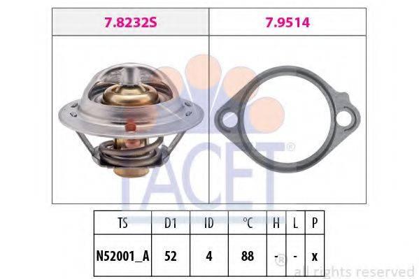 FACET 78232 Термостат, охлаждающая жидкость