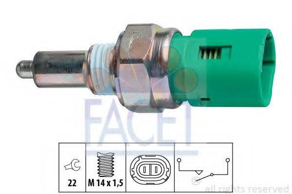 FACET 76096 Выключатель, фара заднего хода