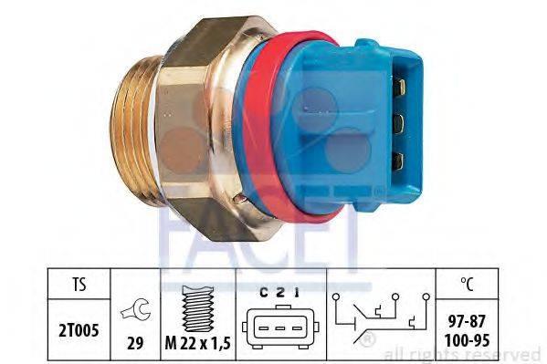FACET 75631 Термовыключатель, вентилятор радиатора