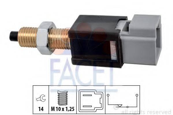 FACET 71304 Выключатель фонаря сигнала торможения; Выключатель, привод сцепления (Tempomat)