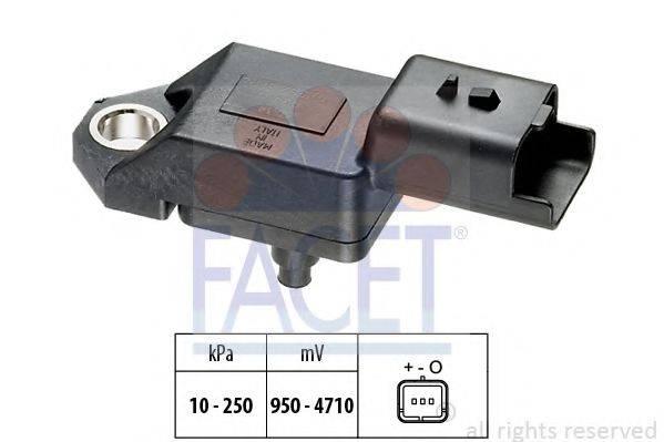 FACET 103034 Датчик давления воздуха, высотный корректор; Датчик, давление во впускном газопроводе