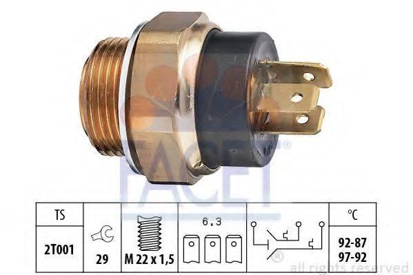 FACET 75612 Термовыключатель, вентилятор радиатора