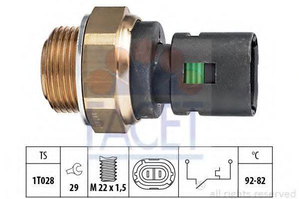 FACET 75128 Термовыключатель, вентилятор радиатора