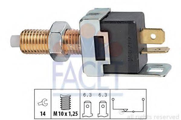 FACET 71017 Выключатель фонаря сигнала торможения; Выключатель, привод сцепления (Tempomat)