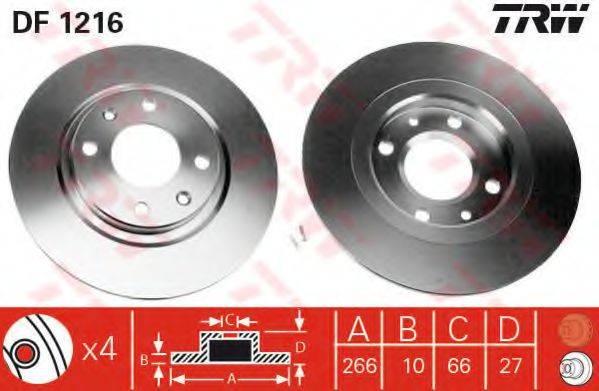 TRW DF1216 Тормозной диск