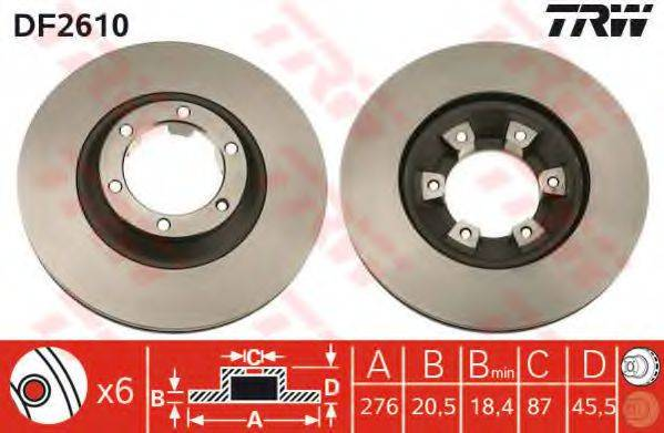 TRW DF2610 Тормозной диск