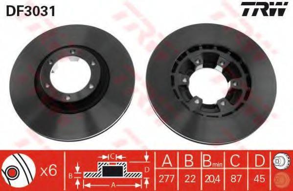 TRW DF3031 Тормозной диск
