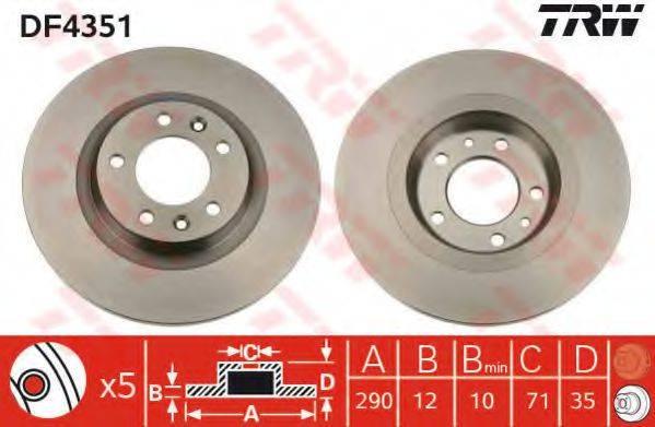 TRW DF4351 Тормозной диск