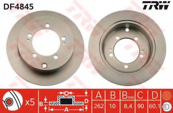 TRW DF4845 Тормозной диск