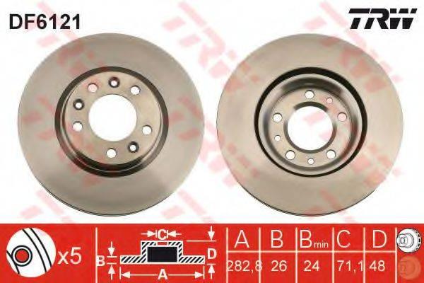 TRW DF6121 Тормозной диск