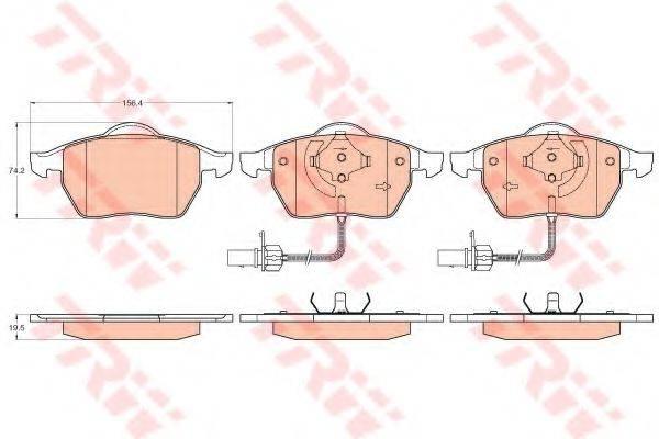 TRW GDB1307 Комплект тормозных колодок, дисковый тормоз