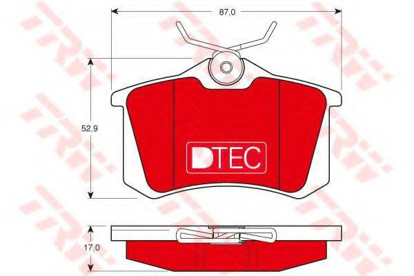 TRW GDB1330DTE Комплект тормозных колодок, дисковый тормоз