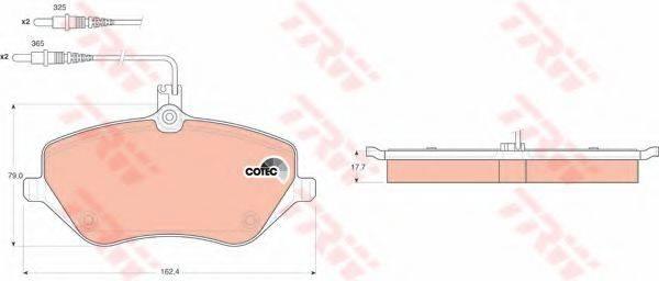 TRW GDB1595 Комплект тормозных колодок, дисковый тормоз