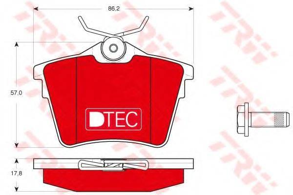 TRW GDB1596DTE Комплект тормозных колодок, дисковый тормоз