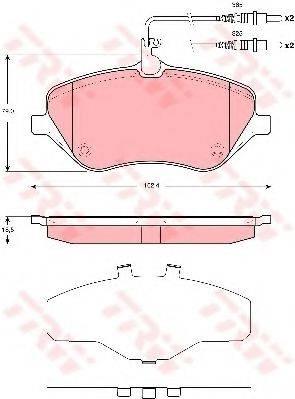 TRW GDB1663 Комплект тормозных колодок, дисковый тормоз