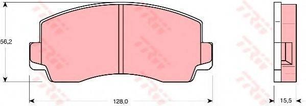 TRW GDB180 Комплект тормозных колодок, дисковый тормоз