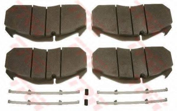 TRW GDB5065 Комплект тормозных колодок, дисковый тормоз