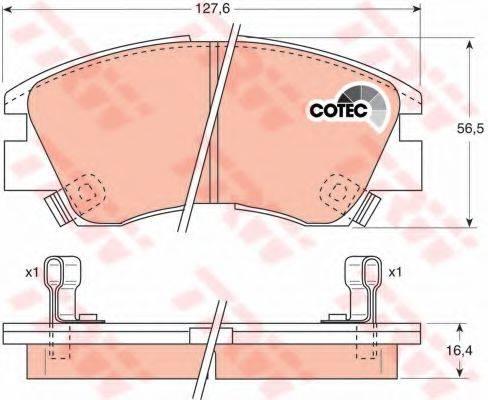 TRW GDB729 Комплект тормозных колодок, дисковый тормоз