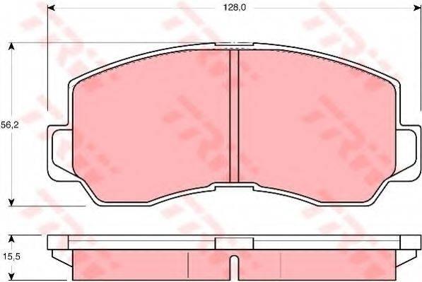 TRW GDB785 Комплект тормозных колодок, дисковый тормоз