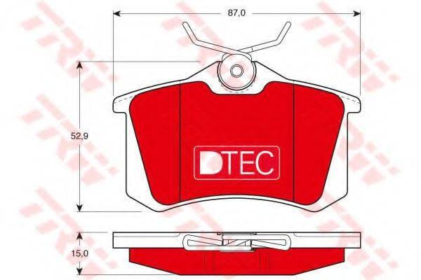 TRW GDB823DTE Комплект тормозных колодок, дисковый тормоз