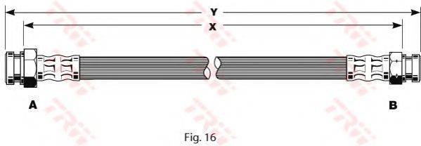 TRW PHA186 Тормозной шланг