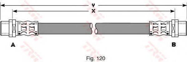 TRW PHA344 Тормозной шланг