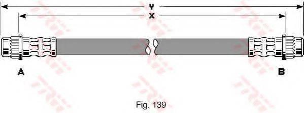 TRW PHA370 Тормозной шланг