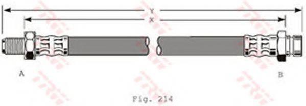 TRW PHB169 Тормозной шланг