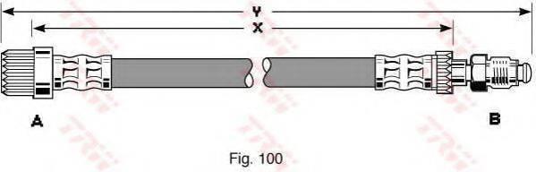 TRW PHB186 Тормозной шланг