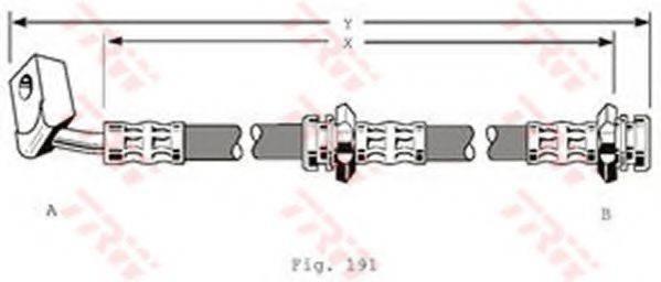 TRW PHD130 Тормозной шланг