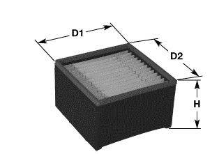 CLEAN FILTERS MG3606 Топливный фильтр