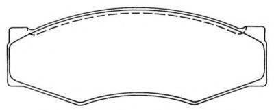 AISIN ASN118 Комплект тормозных колодок, дисковый тормоз
