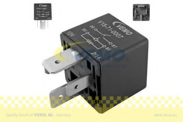 VEMO V15710007 Реле, продольный наклон шкворня вентилятора; Многофункциональное реле