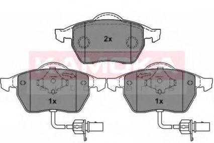 KAMOKA JQ1012646 Комплект тормозных колодок, дисковый тормоз