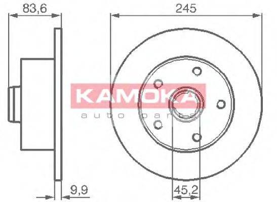 KAMOKA 1031660 Тормозной диск