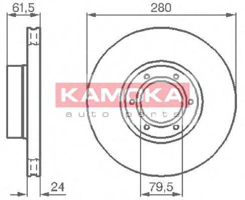 KAMOKA 1032134 Тормозной диск