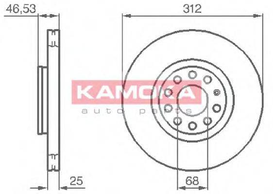 KAMOKA 1032312 Тормозной диск