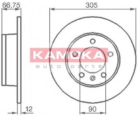 KAMOKA 1032544 Тормозной диск