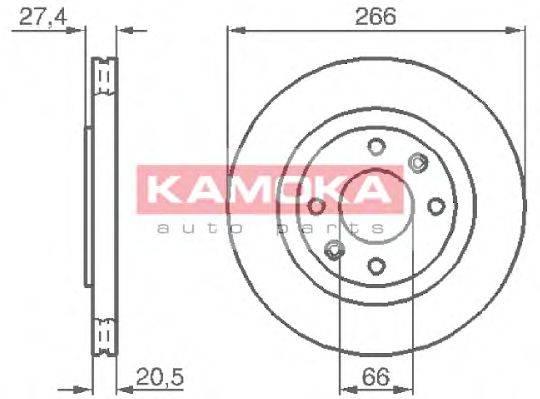 KAMOKA 103384 Тормозной диск