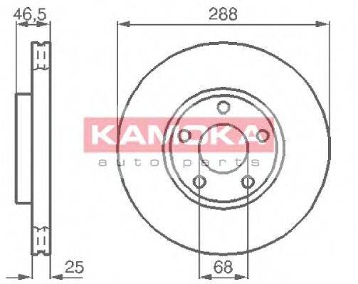 KAMOKA 103640 Тормозной диск