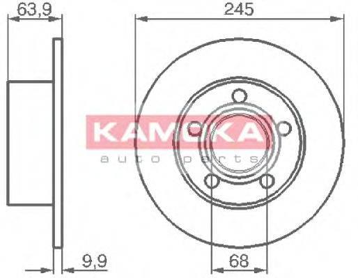 KAMOKA 103642 Тормозной диск