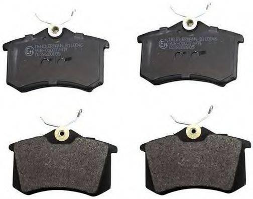 DENCKERMANN B110046 Комплект тормозных колодок, дисковый тормоз