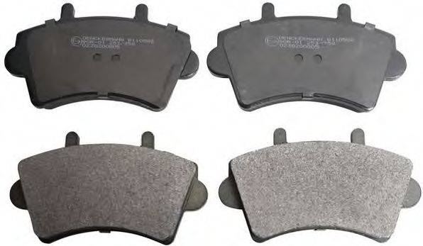 DENCKERMANN B110582 Комплект тормозных колодок, дисковый тормоз