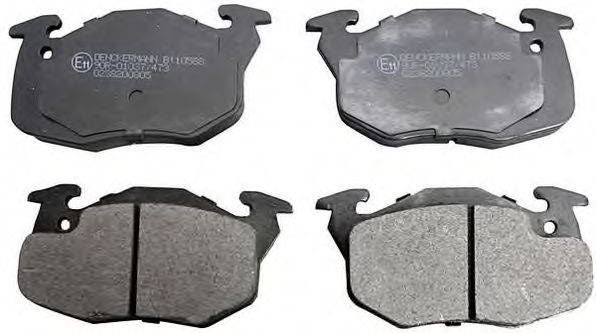 DENCKERMANN B110588 Комплект тормозных колодок, дисковый тормоз