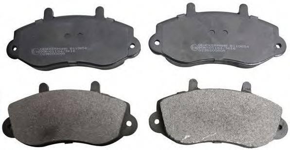 DENCKERMANN B110654 Комплект тормозных колодок, дисковый тормоз