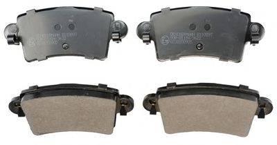 DENCKERMANN B110897 Комплект тормозных колодок, дисковый тормоз