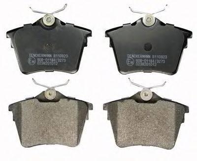 DENCKERMANN B110923 Комплект тормозных колодок, дисковый тормоз