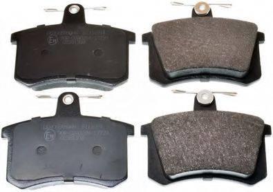 DENCKERMANN B111091 Комплект тормозных колодок, дисковый тормоз